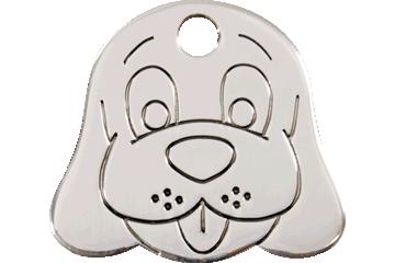 Red Dingo Stainless Steel Tag Dog Face 02-DF-ZZ (2DFS / 2DFM / 2DFL)