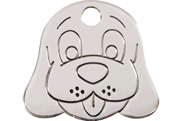 Red Dingo Stainless Steel Tag Dog Face 02-DF-ZZ (2DFS / 2DFM / 2DFL)