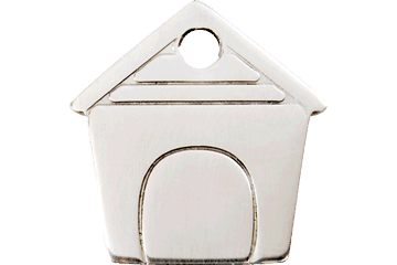 Red Dingo Stainless Steel Tag Dog House 02-DH-ZZ (2DHS / 2DHM / 2DHL)