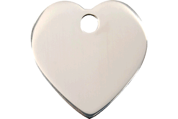 Red Dingo Stainless Steel Tag Heart 02-HT-ZZ (2HTS / 2HTM / 2HTL)