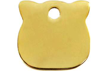 Red Dingo Brass Tag Cat Head 03-CH-ZZ (3CHS)