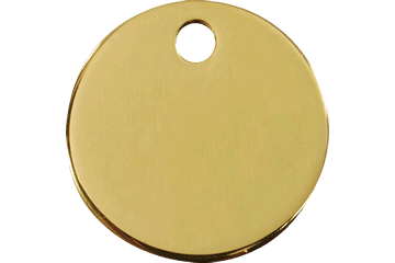 Red Dingo Brass Tag Circle 03-CL-ZZ (3CLS / 3CLM / 3CLL)