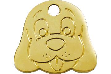 03 >> Red Dingo Austria Brass Tag Dog Face 03 Df Zz 3dfs 3dfm 3dfl