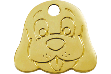 Red Dingo Brass Tag Dog Face 03-DF-ZZ (3DFS / 3DFM / 3DFL)