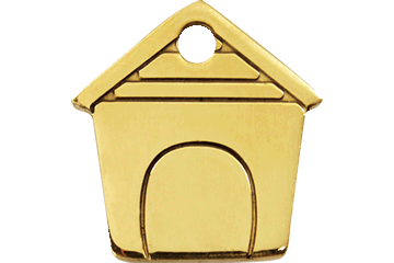 Red Dingo Tiermarke aus Messing Dog House 03-DH-ZZ (3DHS / 3DHM / 3DHL)