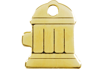 Red Dingo Brass Tag Fire Hydrant 03-FH-ZZ (3FHS / 3FHM / 3FHL)