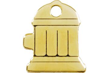 Red Dingo Brass Tag Fire Hydrant 03-FH-ZZ (3FHS / 3FHM / 3FHL)