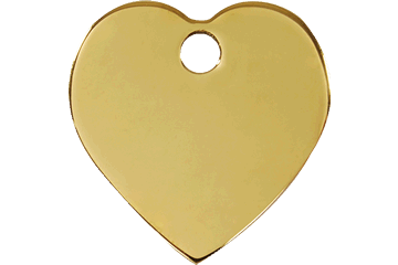 Red Dingo Brass Tag Heart 03-HT-ZZ (3HTS / 3HTM / 3HTL)
