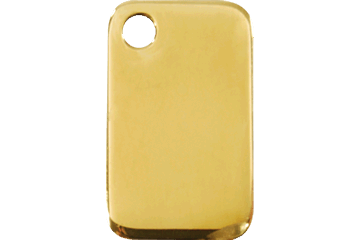 Red Dingo Brass Tag Rectangular 03-RT-ZZ (3RTS / 3RTM / 3RTL)
