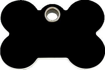 Red Dingo Tiermarke aus Plastik Knochen Schwarz 04-BN-BB (4BNBS / 4BNBM / 4BNBL)