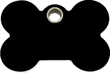Red Dingo Plastic Tag Bone Black 04-BN-BB (4BNBS / 4BNBM / 4BNBL)