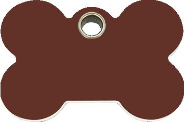 Red Dingo Plastic Tag Bone Brown 04-BN-BR (4BNBRS / 4BNBRM / 4BNBRL)