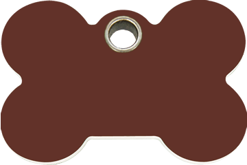 Red Dingo Plastic Tag Bone Brown 04-BN-BR (4BNBRS / 4BNBRM / 4BNBRL)
