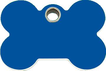 Red Dingo Plastic Tag Bone Dark Blue 04-BN-DB (4BNNS / 4BNNM / 4BNNL)