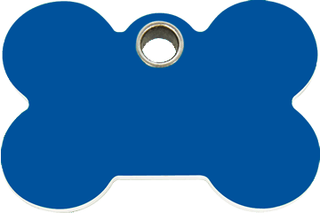 Red Dingo Plastic Tag Bone Dark Blue 04-BN-DB (4BNNS / 4BNNM / 4BNNL)