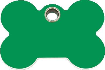 Red Dingo Tiermarke aus Plastik Bone Grün 04-BN-GR (4BNGS / 4BNGM / 4BNGL)