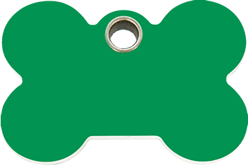 Red Dingo Plastic Tag Bone Green 04-BN-GR (4BNGS / 4BNGM / 4BNGL)