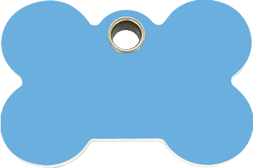Red Dingo Plastic Tag Bone Light Blue 04-BN-LB (4BNLBS / 4BNLBM / 4BNLBL)