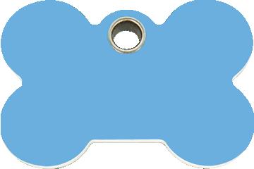 Red Dingo Plastic Tag Bone Light Blue 04-BN-LB (4BNLBS / 4BNLBM / 4BNLBL)