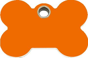 Red Dingo Plastic Tag Bone Orange 04-BN-OR (4BNOS / 4BNOM / 4BNOL)