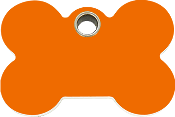 Red Dingo Plastic Tag Bone Orange 04-BN-OR (4BNOS / 4BNOM / 4BNOL)