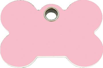 Red Dingo Plastic Tag Bone Pink 04-BN-PK (4BNPKS / 4BNPKM / 4BNPKL)