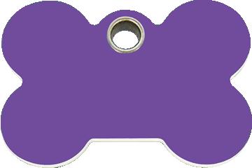 Red Dingo Plastic Tag Bone Purple 04-BN-PU (4BNPS / 4BNPM / 4BNPL)