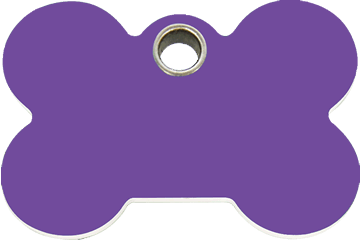 Red Dingo Plastic Tag Bone Purple 04-BN-PU (4BNPS / 4BNPM / 4BNPL)