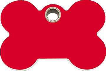 Red Dingo Plastic Tag Bone Red 04-BN-RE (4BNRS / 4BNRM / 4BNRL)