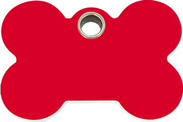 Red Dingo Plastic Tag Bone Red 04-BN-RE (4BNRS / 4BNRM / 4BNRL)
