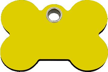 Red Dingo Plastic Tag Bone Yellow 04-BN-YE (4BNYS / 4BNYM / 4BNYL)