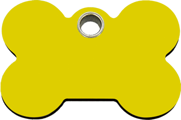 Red Dingo Plastic Tag Bone Yellow 04-BN-YE (4BNYS / 4BNYM / 4BNYL)