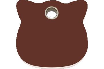 Red Dingo Médaillon en plastique Cat Head Marron 04-CH-BR (4CHBRS)