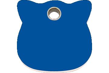 Red Dingo Plastic Tag Cat Head Dark Blue 04-CH-DB (4CHNS)