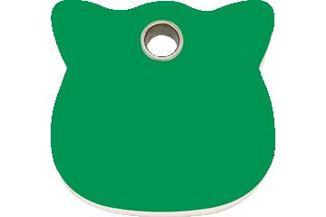 Red Dingo Plastic Tag Cat Head Green 04-CH-GR (4CHGS)