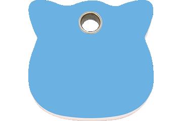Red Dingo Plastic Tag Cat Head Light Blue 04-CH-LB (4CHLBS)