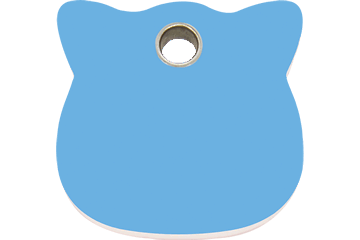 Red Dingo Médaillon en plastique Cat Head Bleu Clair 04-CH-LB (4CHLBS)
