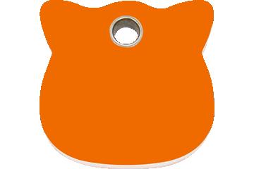 Red Dingo Plastic Tag Cat Head Orange 04-CH-OR (4CHOS)
