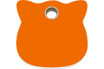 Red Dingo Plastic Tag Cat Head Orange 04-CH-OR (4CHOS)