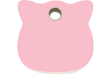 Red Dingo Plastic Tag Cat Head Rosa 04-CH-PK (4CHPKS)
