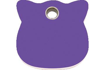 Red Dingo Plastic Tag Cat Head Purple 04-CH-PU (4CHPS)