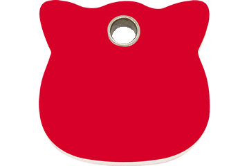 Red Dingo Plastic Tag Cat Head Rosso 04-CH-RE (4CHRS)