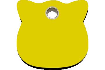 Red Dingo Médaillon en plastique Cat Head Jaune 04-CH-YE (4CHYS)