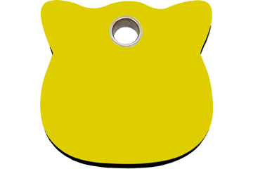 Red Dingo Plastic Tag Cat Head Yellow 04-CH-YE (4CHYS)