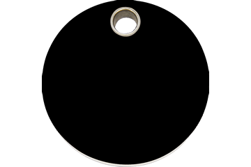 Red Dingo Plastic Tag Circle Black 04-CL-BB (4CLBS / 4CLBM / 4CLBL)