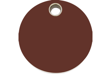 Red Dingo Plastic Tag Circle Brown 04 Cl Br 4clbrs