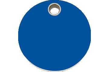 Red Dingo Plastic Tag Circle Dark Blue 04-CL-DB (4CLNS / 4CLNM / 4CLNL)