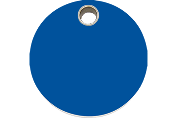 Red Dingo Plastic Tag Circle Dark Blue 04-CL-DB (4CLNS / 4CLNM / 4CLNL)