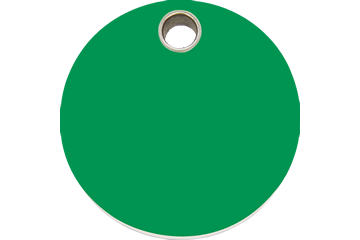 Red Dingo Plastic Tag Circle Verde 04-CL-GR (4CLGS / 4CLGM / 4CLGL)
