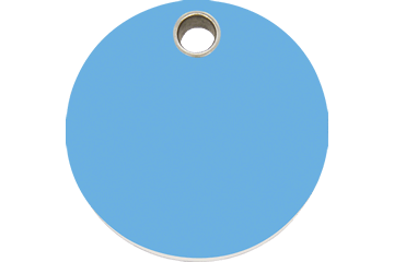 Red Dingo Plastic Tag Circle Light Blue 04-CL-LB (4CLLBS / 4CLLBM / 4CLLBL)